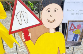 Porto Ceresio - Inauguration of road signs project designed by children